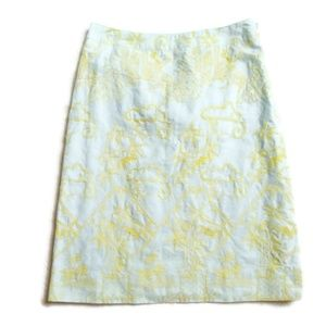 Anthropologie Tocca Embroidered A-Line Skirt 4